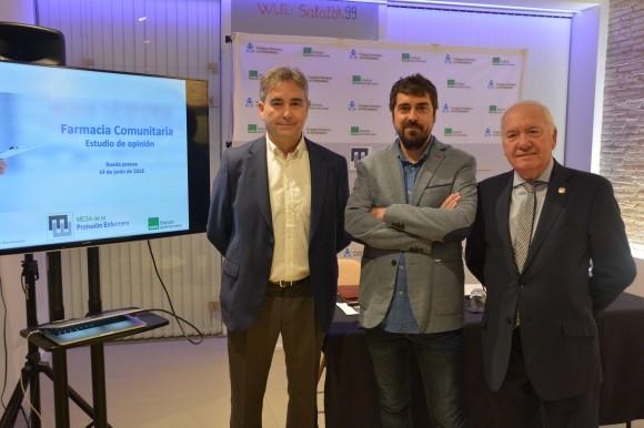 Manuel Cascos, David Alvarez y Florentino Perez Raya